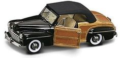 Diecast Toy Vehicles 51023: 1946 Ford Sportsman Convertible W Removable Bonnet, Black - Road Signature 1 18 -> BUY IT NOW ONLY: $94.99 on eBay!