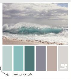 A pretty #coastal #palette full of aquarium blues and misty purples :)