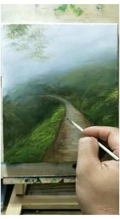 Beautiful landscape drawing ❤ #cool #sketches #creativity #beautiful #coolsketchescreativitybeautiful Canvas Painting Tutorials, Diy Canvas Art, Landscape Art, Landscape Paintings On Canvas, Landscape Drawings, Art Painting Gallery, Painting Art, Cool Art Drawings, Acrylic Art