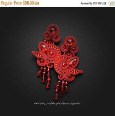 Hey, I found this really awesome Etsy listing at https://www.etsy.com/listing/559047152/on-sale-chandelier-earrings-red-stud