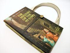 Book Purse Nancy Drew Mystery of 99 Steps Book by retrograndma, $39.99