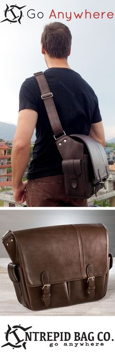 The Wayfarer Messenger from the Intrepid Bag Co. Go Anywhere from urban jungles to ancient ruins. Available now! www.IntrepidBags.com