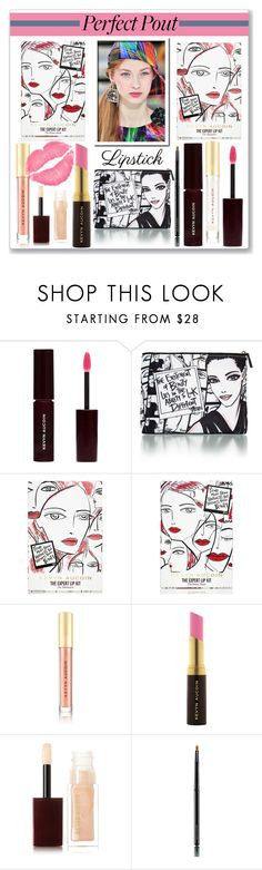 """""""Pucker Up: Spring Lips"""" by slynne-messer ❤ liked on Polyvore featuring beauty and Kevyn Aucoin"""