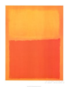 Orange and Yellow 1956 Mark Rothko (I hate this guy but it's important to be aware :p)