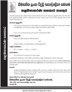 Lanka Electricity Company (Pvt) Ltd is seeking candidate for Management Assistant position. Assistant Manager, Government Jobs, Management, Positivity, Optimism
