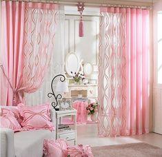 Resultado de imagen para cortinas de satin rosa pink