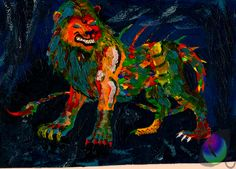 fauve art | fauvism tarrasque by maelthra chath traditional art paintings fantasy ...