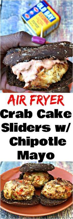 Air Fryer Fifteen Minute Old Bay Crab Cake Sliders