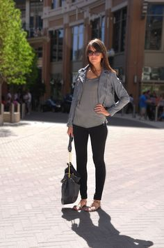 grey leather jacket...want one, but not cropped