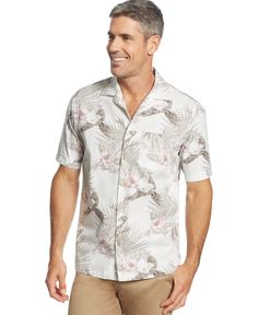 Tasso Elba Island Hibiscus Print Shirt