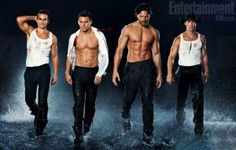 With 'Magic Mike' opening next month Channing Tatum, Matt Bomer, Joe Manganiello, Alex Pettyfer and Matthew McConaughy are gamely showing their stuff for the summer crowds and here's some more beefy images to check out. For those that complained about the Rihanna track used in the 'Magic Mike'