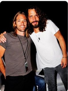 Chris and Taylor Hawkins  #chriscornell #soundgarden #audioslave