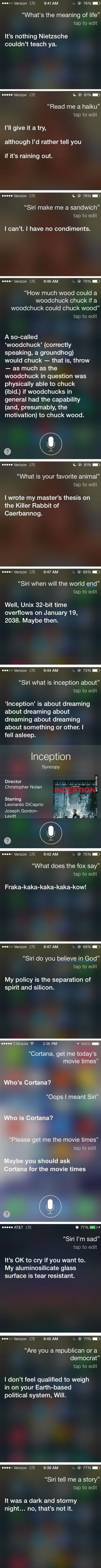 Hilariously Honest Answers From Siri To Uncomfortable Questions You Can Ask, Too