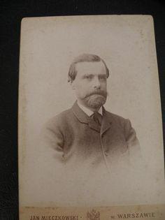ZDJĘCIE URZĘDNIKA - WARSZAWA 1880  BCM