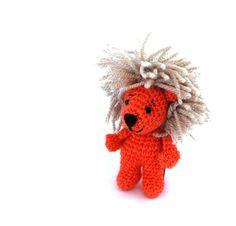 $36.66 miniature lion, crochet lion doll, plushie lion toy, softie little toy, stuffed lion, lion #mascot, lion cabala, #cool pocket #lion doll, little handmade toy