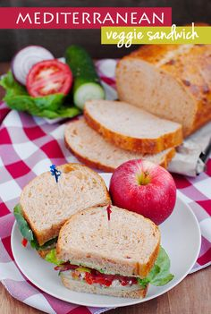 Copycat Panera Mediterranean Veggie Sandwich Recipe + 5 Tips to Build a Better Sandwich #copycat   iowagirleats.com