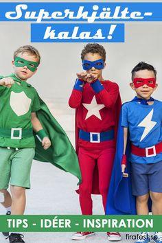 Kostymerna, lekarna, maten och dekorationerna - så fixar du roligaste superhjältekalaset!  #barnkalas #superhjältar #kalas #superhjältekalas