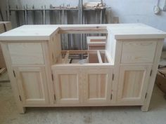 Solid Pine Belfast Sink Kitchen Unit For 600mm Width Sink In Home,  Furniture U0026 DIY