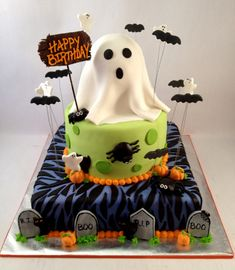 happy birthday ghost cake