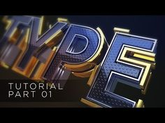 (29) 01 - TUTORIAL TYPE TEXT - SPLINE LINES - CINEMA 4D AND AFTER EFFECTS CC1/2 - YouTube