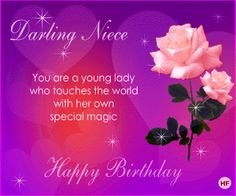 Birthday Wishes for Niece Poems | Niece Birthday Cards *Animated eCards for…