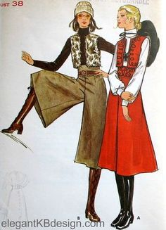 gaucho pants... i wore these in the 70's...i think they would be awesome again now with some fab boots