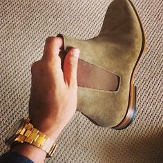 Scott Disick Shows Off Saint Laurent Suede Chelsea Boots On Instagram | UpscaleHype