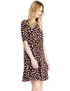 Animal Print Swing Fit & Flare Dress | M&S