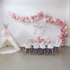 Pretty In Pink Balloon Arch