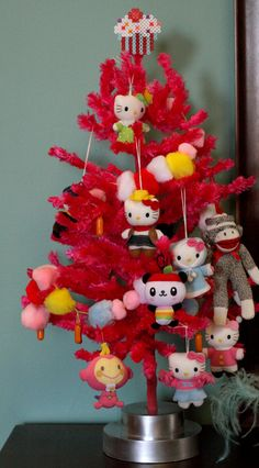Pink Christmas Tree with Hello Kitty!
