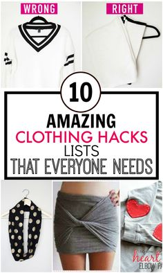 These 10 Awesome Fashion Tips and Hacks Posts are SO GOOD! I've found SO MANY different ideas and my wardrobe has already benefited! I am DEFINITELY pinning for later!
