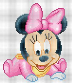 Baby minni e mickey mouse a punto croce hama beads disney, hama disney, perler Disney Stitch, Disney Cross Stitch Patterns, Cross Stitch Designs, Cross Stitch Baby, Cross Stitch Charts, Cross Stitching, Cross Stitch Embroidery, Stitch Cartoon, Perler Patterns