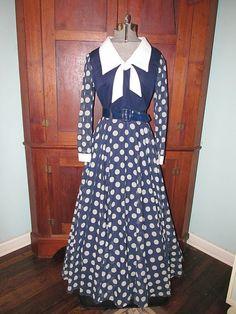 Vtg Retro Full Skirt Career Church Dress Montgomery by ThenForNow