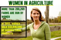 Women play a huge part in agriculture just like men.
