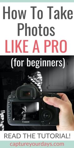 If you want to learn how to use your DSLR camera and take photos that look more professional, you're in the right place!