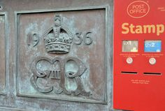 Antique Mailbox, Pillar And Post, Office Stamps, Edward Viii, Mail Boxes, Bangor, Post Box, Street Furniture, South Wales