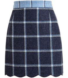 Fall plaid skirt; this is precious