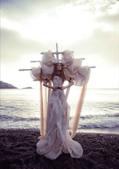 Ekaterina Belinskaya surreal figurative contemporary fashion art photography the maiden sacraficed