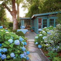 Tara Dillard designed this garden & conservatory, The Complete Guide to Hydrangea Macrophylla - Southern Living