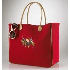 6913dcf401 Love the big square shape of this Ralph Lauren bag. Ralph Lauren Bags