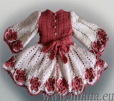 Crochet Pattern / little girl dress Toddler Dress, Crochet Toddler, Crochet Girls, Crochet For Kids, Free Crochet, Crochet Lace, Thread Crochet, Crochet Hooks, Crochet Stitches