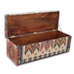 Upholstered Ottoman Box or Coffee Table.