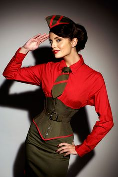 Dieselpunk corset. This is really amazing.