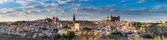 Stitched panorama of Toledo in Spain, townscape at summer day. Panoramic Images, Summer Days, Paris Skyline, Spain, Travel, Viajes, Sevilla Spain, Destinations, Traveling