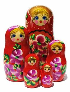 Nastya Red Matryoshka 5 Piece Set