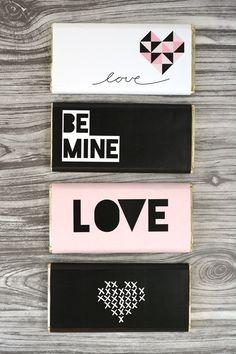 Free Printable Valentine's Day Chocolate Bar Wraps - Oleander + Palm