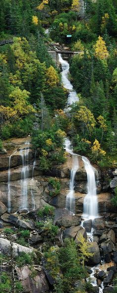 A cascading waterfall near beautiful Skagway, Alaska by Michael Peychich ~ So want to go back to God's country