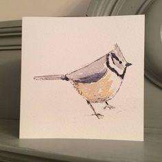 Crested Tit Garden Bird Greetings Card
