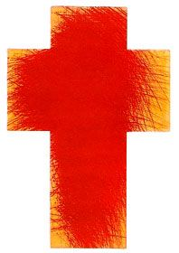 Arnulf Rainer - Glutkreuz Arnulf Rainer, Body Art, Christ, Symbols, Letters, Orange, Abstract, Artwork, Contemporary Art