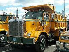 Autocar Yellow Tandem Dump Truck Dump Trucks, Old Trucks, White Truck, Heavy Truck, Car Brands, Peterbilt, Classic Trucks, Motor Car, America